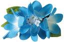 フラダンス衣装 髪飾り 花飾り ヘアクリップ レイ イベント フラ CL-12 Eプルメリアクリップ ブルー 青