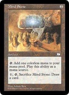 マジックザギャザリング MTG 茶(アーティファクト) 英語版 精神石/Mind Stone WTH-153 コモン【ランクA】【中古】