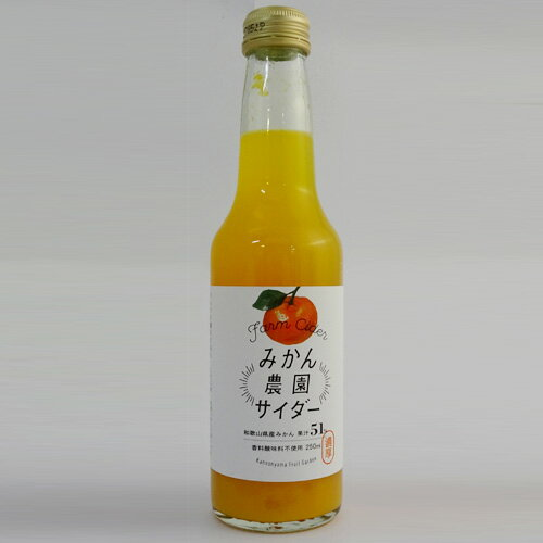【観音山フルーツガーデン】みかん農園サイダー(250ml)[和歌山県産みかん果汁51%入]