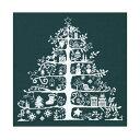 DMCクロスステッチ刺繍キット JPBK557G 「Christmas Tree」(布:緑 糸:白) クリスマスツリー 【あす楽対応_関東】【あす楽対応_甲信越】【あす楽対応_北陸】【あす楽対応_東海】【あす楽対応_近畿】【HLS_DU】