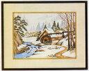 東京文化刺繍キット149「冬の水車」(3号)