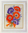 東京文化刺繍キット779「アネモネ」(1号額付)