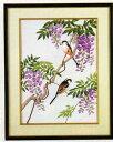 東京文化刺繍キット112「藤とエナガ」(3号)