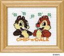 Olympusクロスステッチ刺繍キット7236「チップ&デール」(額付) ディズニー CHIP 'n' DALE , ©Disney クロス刺繍キット オリムパス