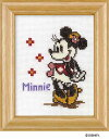 Olympusクロスステッチ刺繍キット7235「ミニーマウス」(額付) ディズニー MINNIE MOUSE , copy Disney クロス刺繍キット オリムパス
