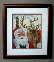 OOE クロスステッチ刺繍キット 91202 / 91203 クリスマス サンタクロース トナカイ デンマークの刺しゅうメーカー「オーレンシュレーガー(O. Oehlenschlägers Eftf. / Oehlenschlager)」製ししゅうキット Christmas Santa Claus X'mas reindeer