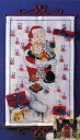OOE クロスステッチ刺繍キット 58200 クリスマス アドベントカレンダー デンマークの刺しゅうメーカー「オーレンシュレーガー(O. Oehlenschlägers Eftf. / Oehlenschlager)」製ししゅうキット Christmas X'mas Santa Claus Advent Calendar