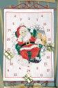 OOE クロスステッチ刺繍キット 76117 クリスマス アドベントカレンダー デンマークの刺しゅうメーカー「オーレンシュレーガー(O. Oehlenschlägers Eftf. / Oehlenschlager)」製ししゅうキット Christmas X'mas Santa Claus Advent Calendar