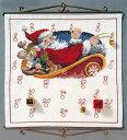 OOE クロスステッチ刺繍キット 84602 クリスマス アドベントカレンダー デンマークの刺しゅうメーカー「オーレンシュレーガー(O. Oehlenschlägers Eftf. / Oehlenschlager)」製ししゅうキット Christmas X'mas Santa Claus Advent Calendar