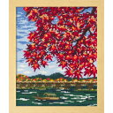 Olympusクロスステッチ刺繍キット7388 「紅葉の嵐山」 オリムパス 四季を彩る日本の名所 秋