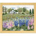 Olympusクロスステッチ刺繍キット 7426 「ルピナスの花咲くアンの家」 オノエ・メグミの物語からの花咲く風景 オリムパス 赤毛のアン Flower garden from a fairy tale