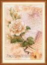 RIOLISクロスステッチ刺繍キット No.0035 PT 「Love Letters. Rose」 (バラのラブレター ローズ) 【プリント済みキット】 【取...