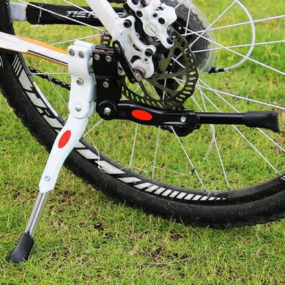 【B032】自転車用 軽量 サイドスタンド キックスタンド 長さ調節可能 <全2色> / …...:torio-:10000189