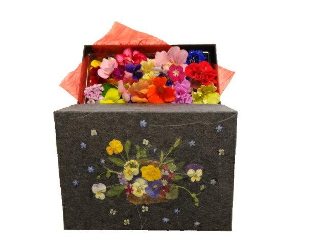 押し花で作った花織箱日時指定可エディブル・フラワー領収証および納品書をご希望の方は、必ず備考欄にご記