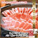 送料無料 Wイベリコ豚セットバラ&肩ロース メガ盛り1kg焼肉 すき焼き しゃぶしゃぶ ブロック