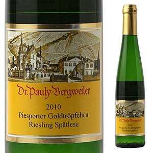 【6本〜送料無料】 [375ml]ピースポーター ゴルトトレプヒェン リースリング シュペトレーゼ 2013 パウリー ベルクヴァイラー博士家 [ハーフボトル][甘口白]Piesporter Goldtr pfchen Riesling Sp tlese Dr. Pauly-Bergweiler