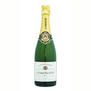 【6本〜送料無料】シャンパーニュ J.コンテ ペール&フィス ブリュット NV G.H.マルテル&CO. 750ml [発泡白]Champagne J. Contet Pere & Fils Brut G.h. Martel & Co.