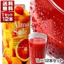 【送料無料】ブラッドオレンジジュース シチリア産 1L×12本セット アルモソーレ[冷凍便のみ][同梱不可商品]