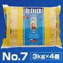 【送料無料】No.7 リングイネ 3kg×4個 ディチェコ (DE CECCO)[同梱不可商品]