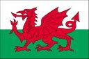ウェールズ[卓上旗 国旗16×24cm・高級テトロン製]あす楽対応・安心の日本製