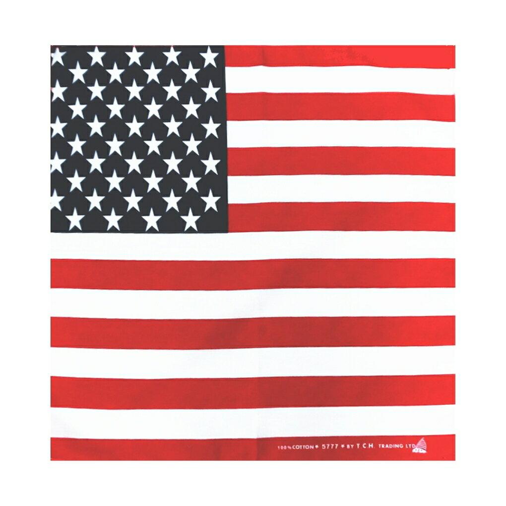 バンダナ・お弁当チーフ・アメリカ国旗柄・USA・星条旗(51×51cm・綿100%)
