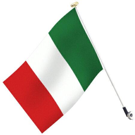 世界の国旗 イタリア・トリコローレ高級国旗セット【アルミ合金ポール・取付部品付】【smtb-u】あす楽対応