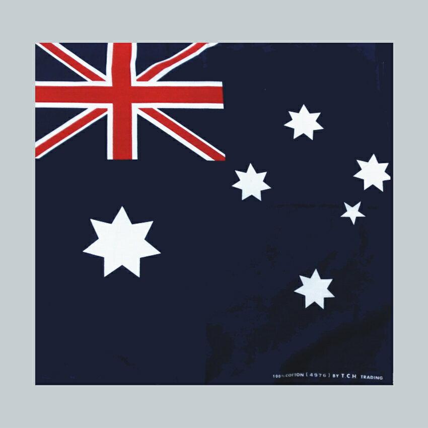 バンダナ・お弁当チーフ・オーストラリア国旗柄(51×51cm・綿100%)