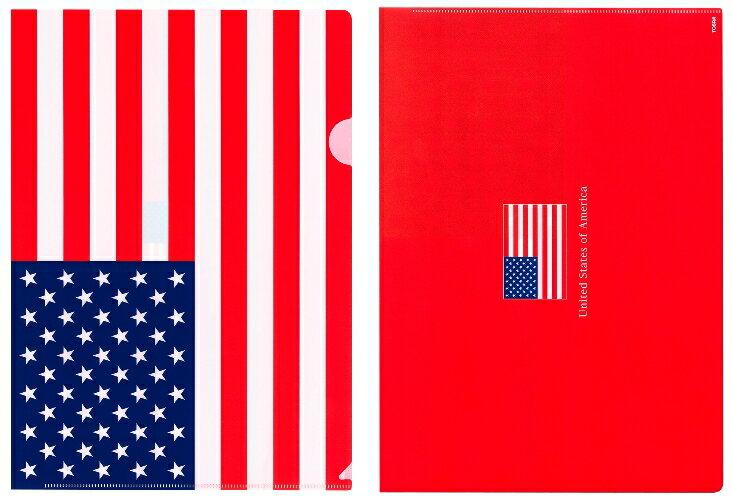 クリアファイル A4 アメリカ国旗 USA 星条旗柄【クリアフォルダー A4サイズ 310×220mm 】あす楽・日本製