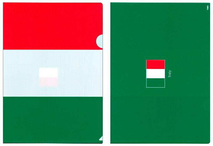 クリアファイル A4 イタリア国旗 トリコローレ柄【クリアフォルダー A4サイズ 310×220mm 】あす楽・日本製