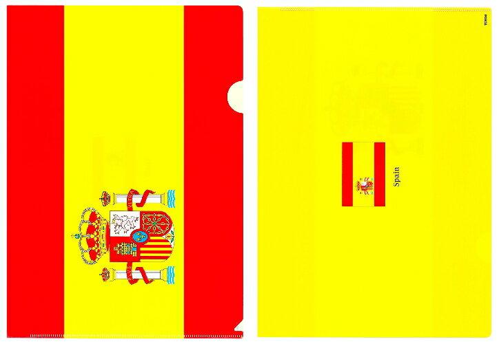 クリアファイル A4 スペイン国旗柄【クリアフォルダー A4サイズ 310×220mm 】あす楽・日本製