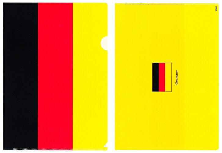 クリアファイル A4 ドイツ国旗柄【クリアフォルダー A4サイズ 310×220mm 】あす楽・日本製