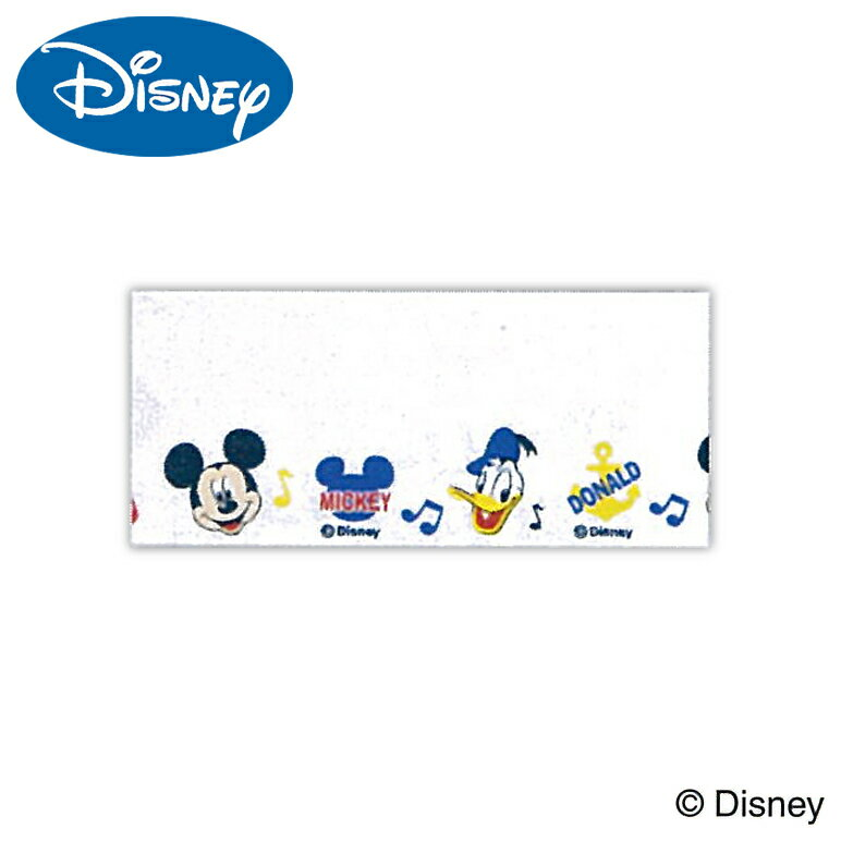 ディズニーミッキー&ドナルドネームテープ35×40cmワッペンアイロン名札手芸用品刺しゅう刺繍手作り