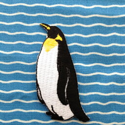 アップリケワッペン 左向きキングペンギン W-0368 UI