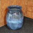 大壷 信楽焼 つぼ 大ツボ 陶器 つぼ 花瓶 しがらき焼き 大きい ツボ やきもの 玄関 和風 花入れ 花器 青色 大型 特大 ha-0213