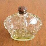 アンティーク雑貨 王冠型のガラスのパフュームボトル フランス