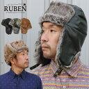 帽子 耳あて付 パイロットキャップ フライトキャップ ボンバーハット 防寒 ルーベン Ruben
