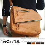 TRICKSTER ショルダーバッグ ERIC /男性用 メンズ/ショルダーバック/斜めがけ/フェイクレザー 合皮/A4 iPad/メッセンジャーバッグ/おしゃれ/鞄 かばん バッ