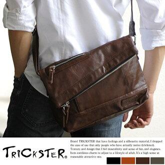 It is bag /B5 iPad/ 合皮 / bag bag / shoulder back / light weight / trickster // at men / shoulder bag / bias for TRICKSTER mini-shoulder bag MARTIN / men