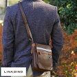 LINA GINO ミニショルダーバッグ MOKA /男性用 メンズ/ショルダーバッグ/ミニ/縦型/A5/iPad mini/合皮 フェイクレザー/カジュアル/鞄 かばん バッグ/ 【楽ギフ_包装】