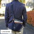 LINA GINO ショルダーバッグ MOKA /男性用 メンズ/ショルダーバック/斜めがけ/B5/iPad/合皮 フェイクレザー/カジュアル/軽量/鞄 かばん バッグ/ 【楽ギフ_包装】