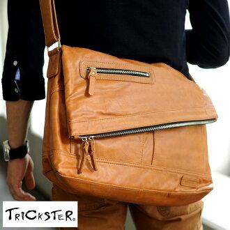TRICKSTER Messenger bag ERIC / men's men's / shoulder bag / Messenger/A4 iPad / if PU leather bag satchel / / fashion / lightweight / trickster / 10P02Mar14