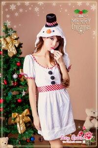雪だるまコスチュームクリスマスコスプレ雪だるまクリスマスオラフコスチュームスノーマンコスプレ衣装仮装レディース女性用大人ワンピ—スサンタコスプレパーティドレス雪クリスマスコスプレ通販サンタ2014あす楽対応ネコポス不可