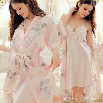 性感性感大褂女袍睡袍女内衣女内衣小孩多爾安排函售Pink性感内衣粉紅色