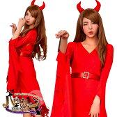ハロウィン コスチューム デビル 悪魔 小悪魔 魔女 魔法使い コスプレ 衣装 キャラクター 仮装 イベント パーティ 女性 ハロウィンコスチューム
