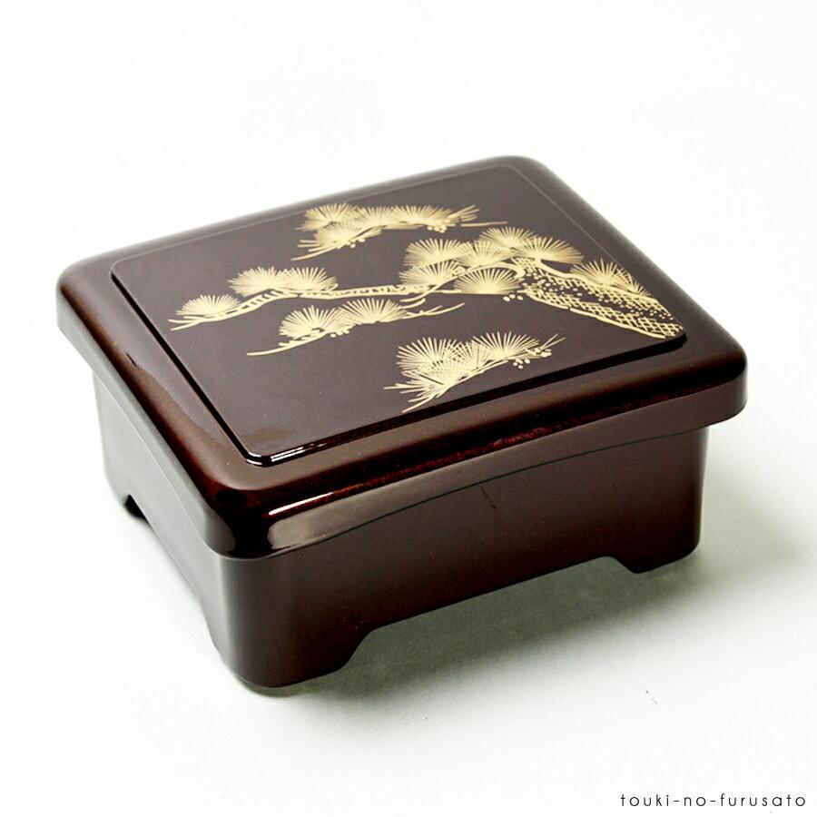 [A]象足丼重溜老松内朱(長方形168cm×143cm高76cm)食器ウナギ合成漆器うなぎ土用の丑う
