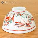 【九谷焼】軽量飯碗 赤絵/美山窯