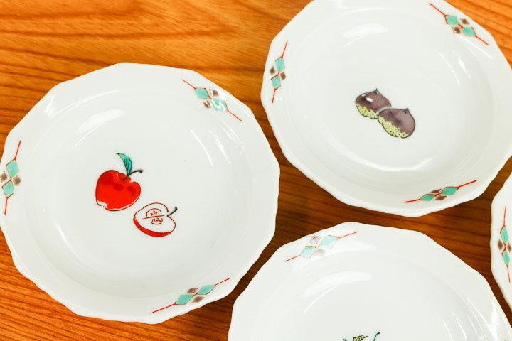 九谷焼 3号皿揃 くだもの/美山窯<和食器 皿...の紹介画像3