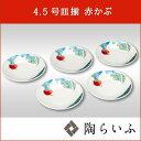 【九谷焼/皿】4.5号皿揃 赤かぶ