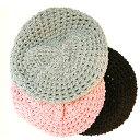 【再入荷】人気No.1!モテガールになりたい♪すかし編みニットベレー帽