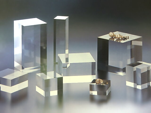 アクリル 四角柱 W100mm×D100mm×H30mmアクリル素材 アクリルステージ アクリル台 アクリル角柱 アクリル多角形